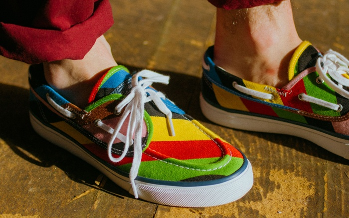 sperry x rowing blazers shoes collaboration, boat shoes