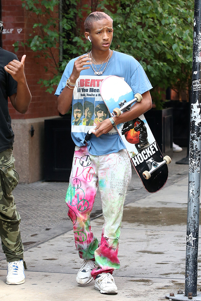 Jaden Smith, skateboarding, New York, New Balance