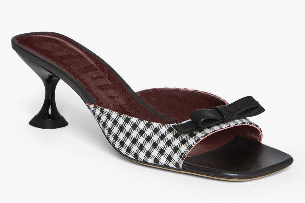 staud Leo sandal, Sophie turner, gingham