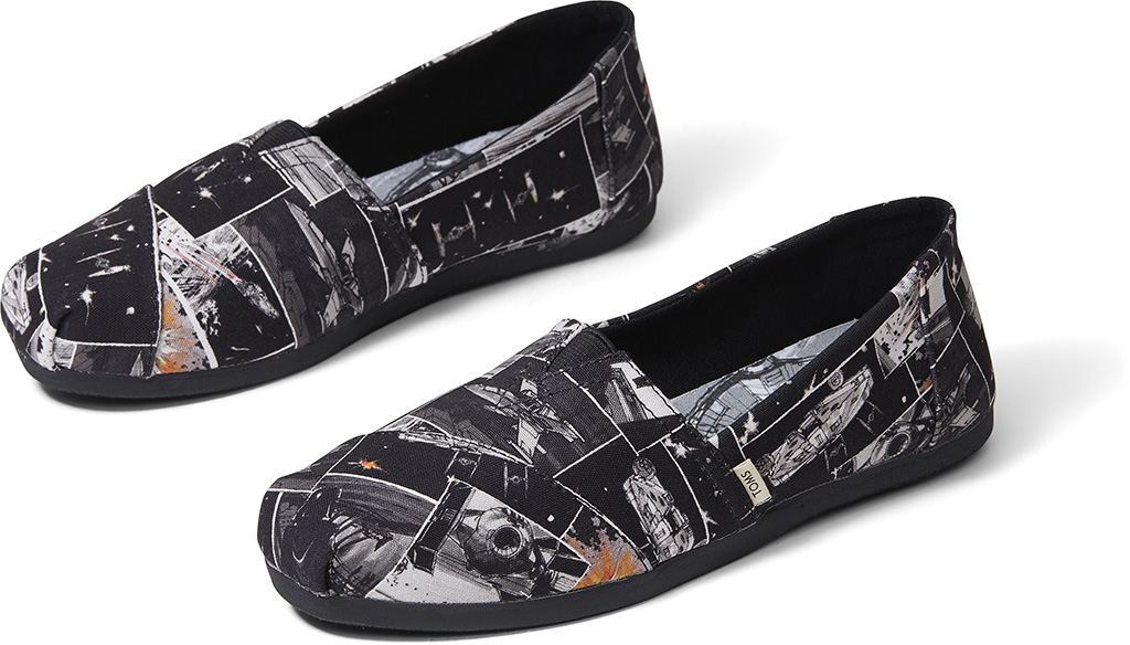 toms x star wars Black Star Wars Darth print men's Classics ft. Ortholite