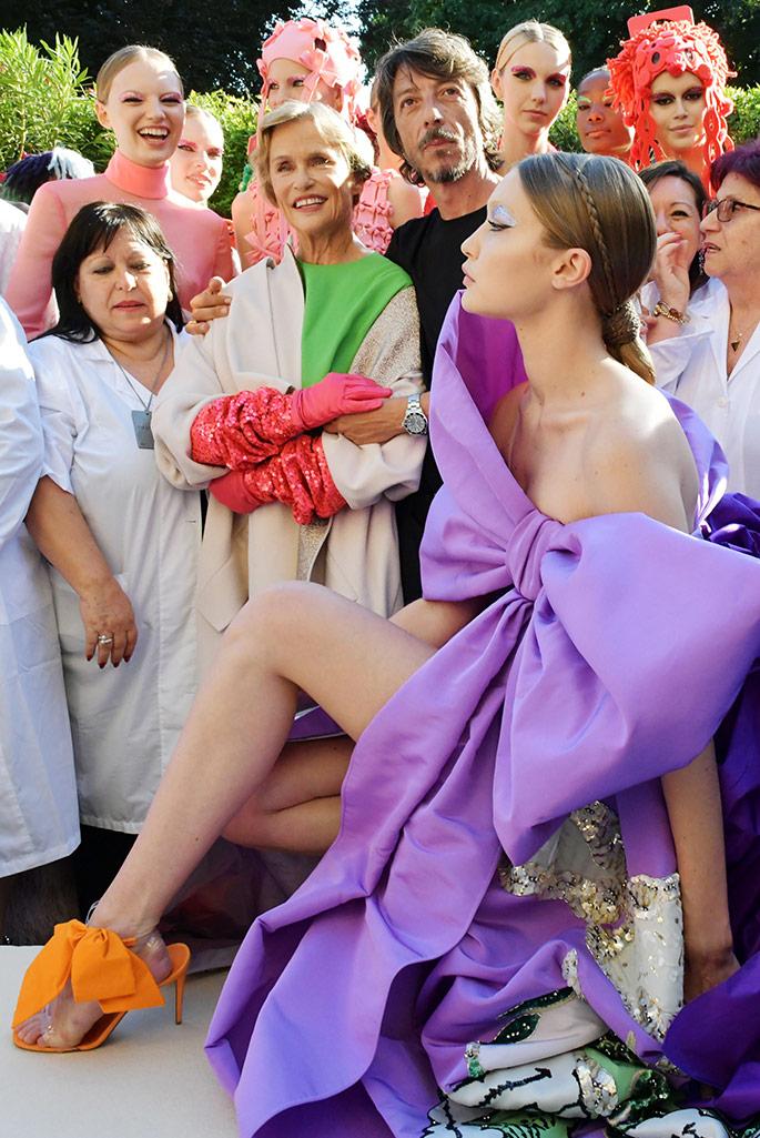 Gigi Hadid, Valentino Haute Couture spring 2019.
