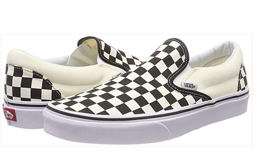 vans sneakers, classic slip-on checkerboard shoe