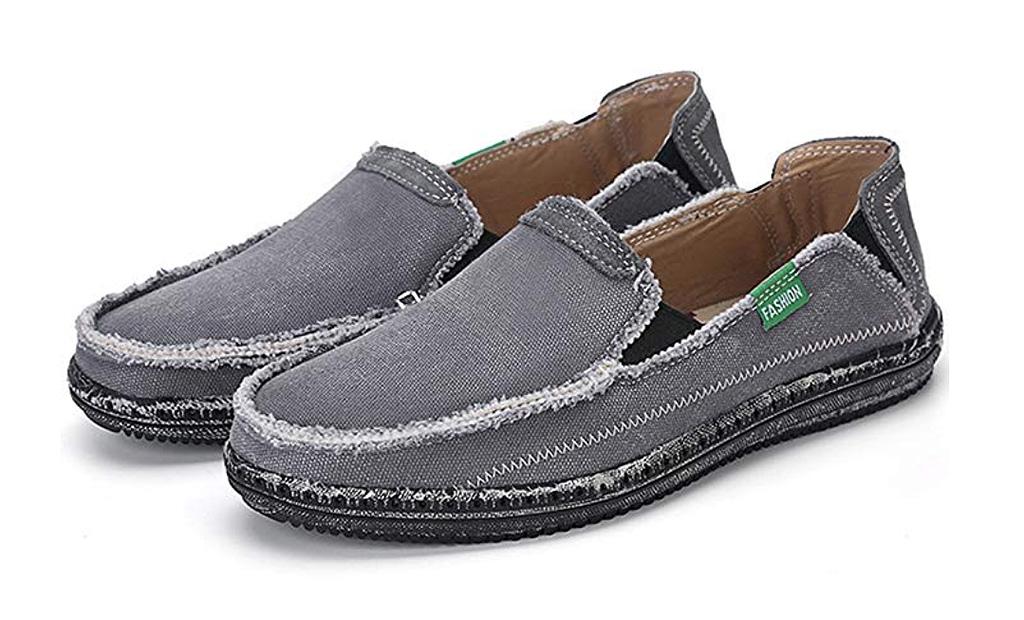 vilocy deck shoes, slip ons, canvas, mens shoes
