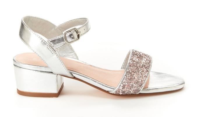 BCBG Hillary Metallic Sandals, dress shoes with heels for little girls