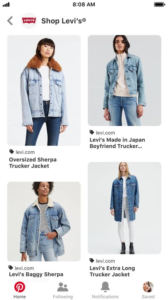 Pinterest, Shop a Brand