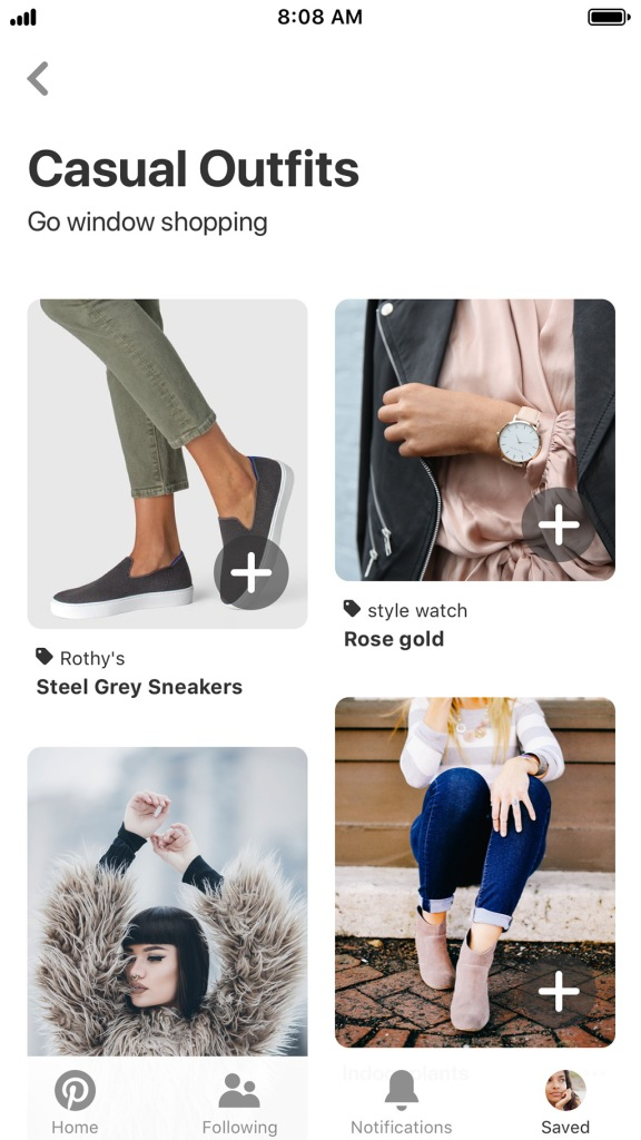 Shoppable recommendations on Pinterest