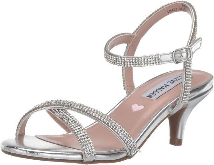 Steve Madden Kids Unisex Jclass Heeled Sandals, Little Girls Heeled Sandals