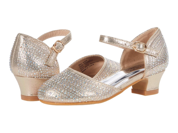 Badgley Mischka Giselle Studded Shoes, Little Girls Heeled Dress Shoes