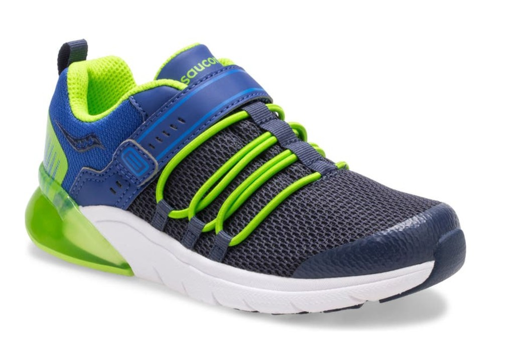 Saucony Flash Glow 2.0 A/C Light-Up Sneaker, best boys running shoes