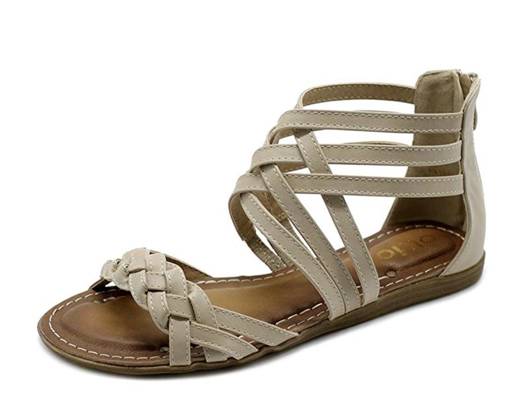Olio Sandal, Amazon Best Womens Gladiator Sandal, Tan Sandal