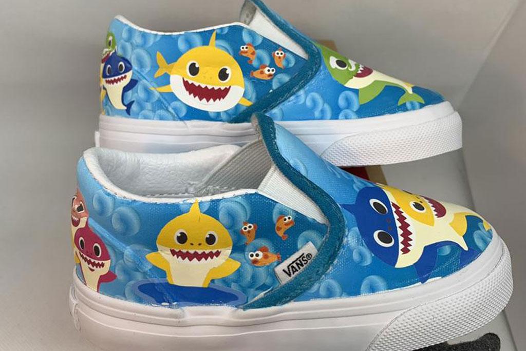 Custom 'Baby Shark' Vans Sneakers for