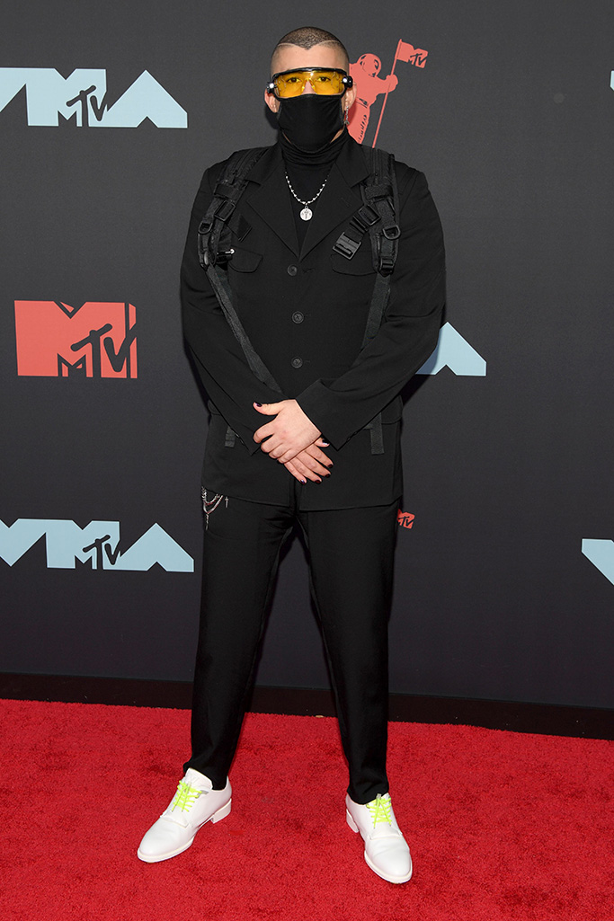 Bad Bunny, MTV Video Music Awards, Arrivals, Fashion Highlights, Prudential Center, New Jersey, USA - 26 Aug 2019