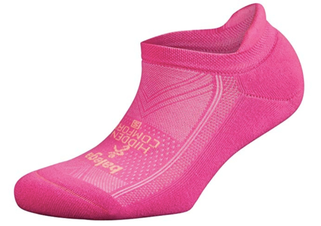 Balega Hidden Comfort No-Show Running Socks, pink