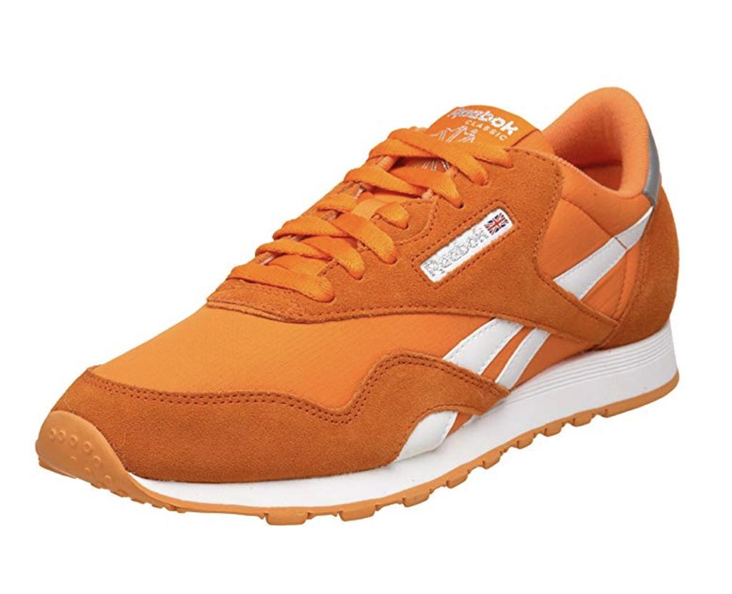 Reebok Classic Nylon Sneaker, best trendy sneakers on amazon, orange trainers