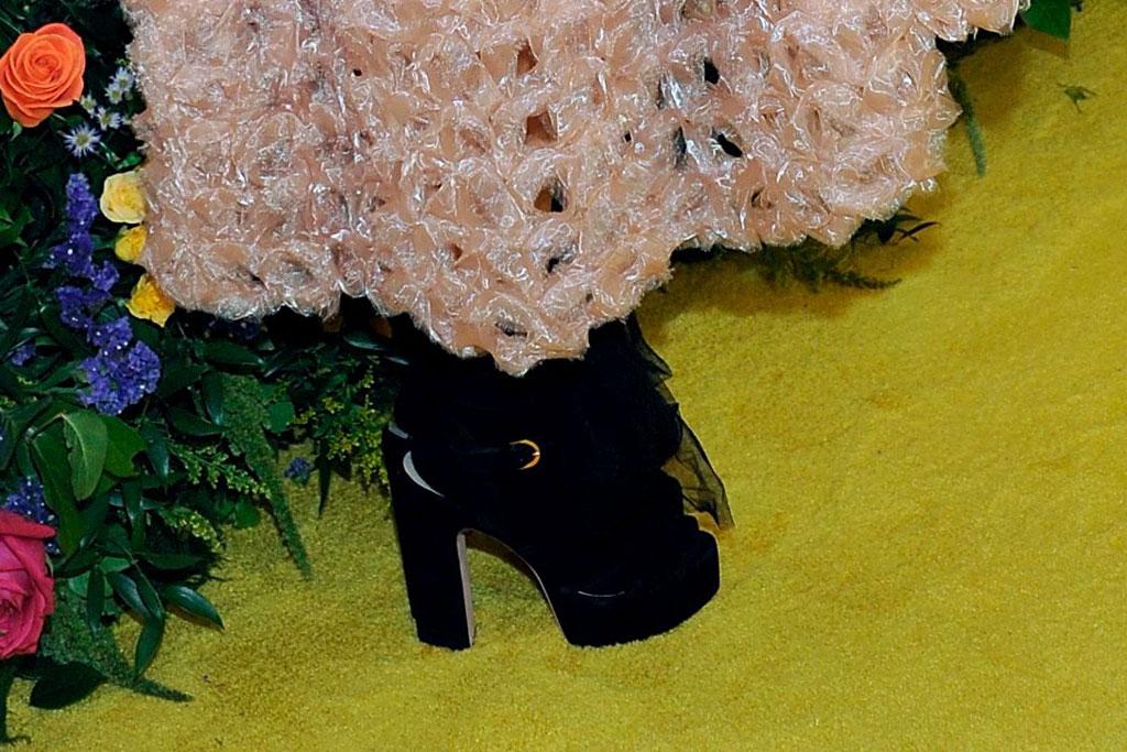 Erykah Badu, platform heels, celebrity shoe style, red carpet, black girls rock, august 2019