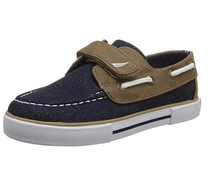 Nautica Little River 2 Boat Shoe, best boat shoes on amazon, denim, velcro straps