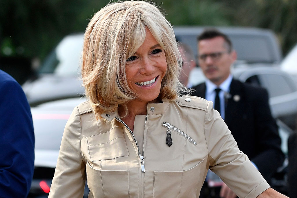 See France S First Lady Brigitte Macron In Louis Vuitton At G7 Summit Footwear News