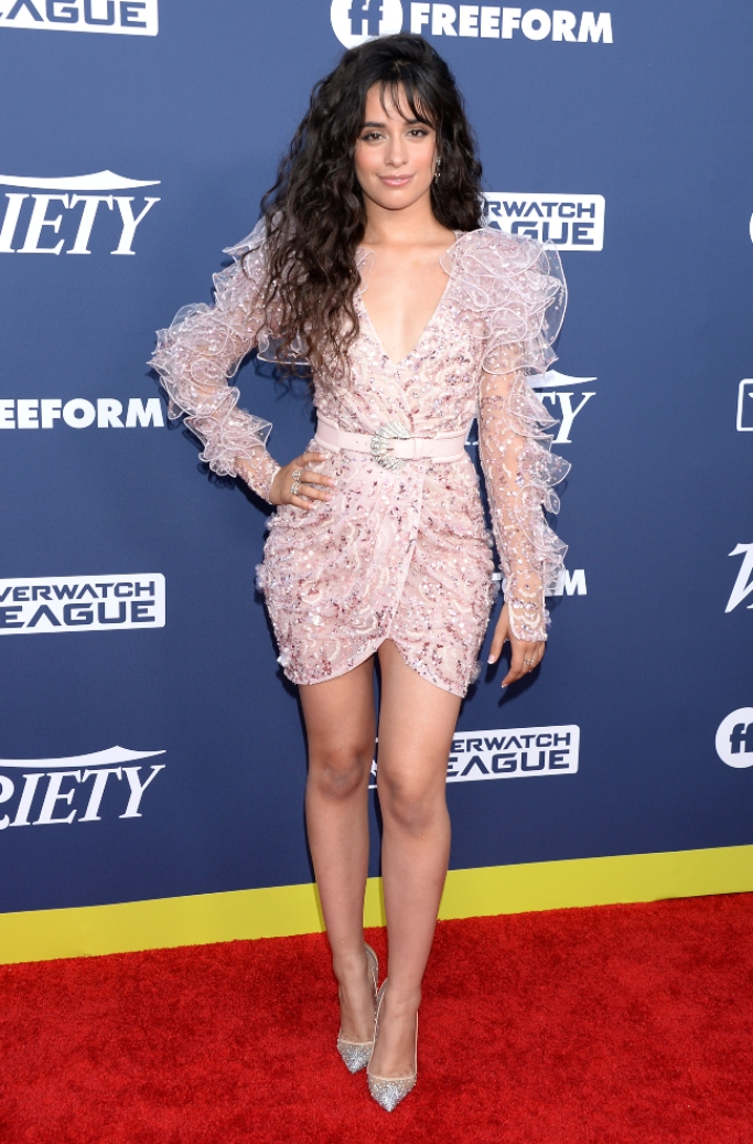 Christian Louboutin Follies Strass Red Sole Pumps, Zuhair Murad Spring 2019 Couture, 2019 Variety Power of Young Hollywood, camila cabello,