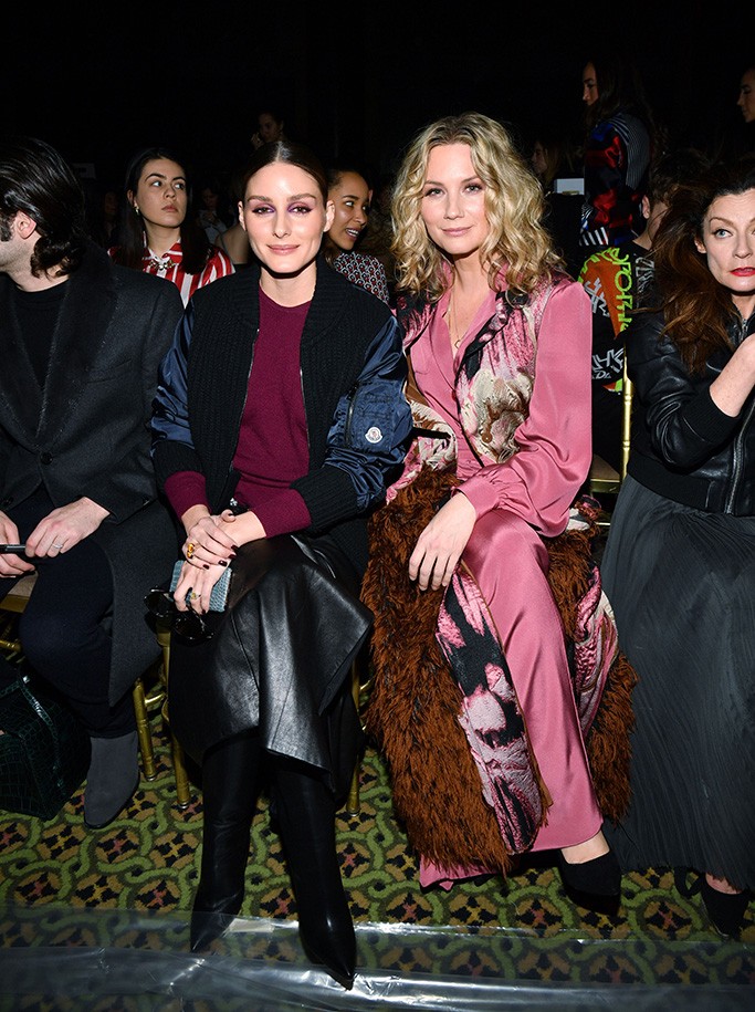 Olivia Palermo and Jennifer NettlesDennis Basso show, Front Row, Fall Winter 2019, New York Fashion Week, USA - 11 Feb 2019