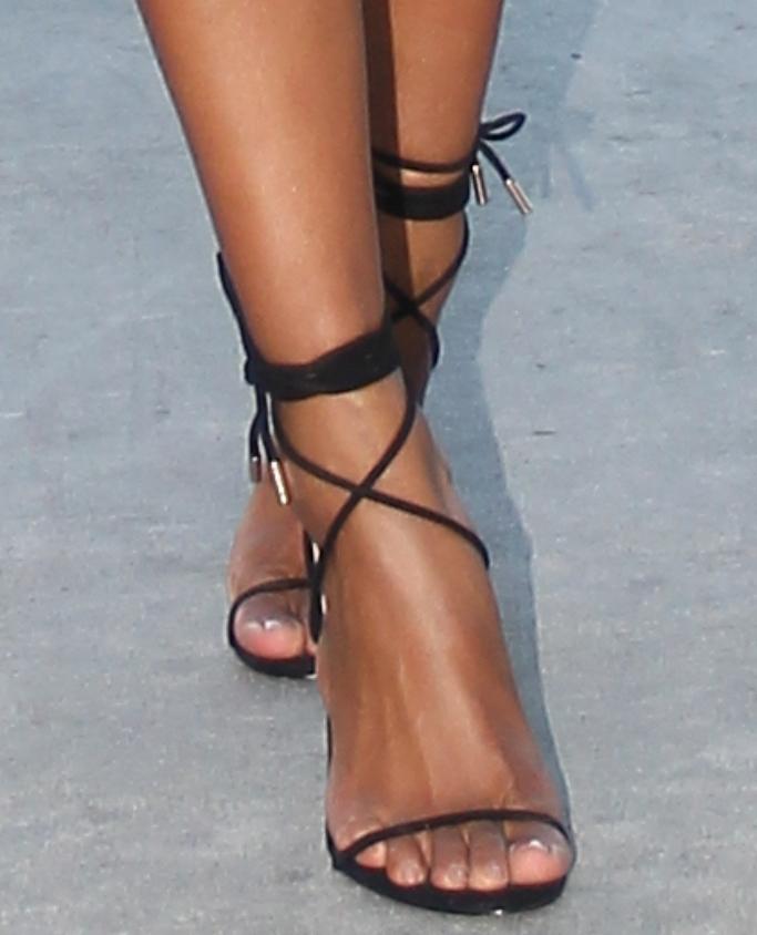 ciara, strappy black ankle-tie sandals