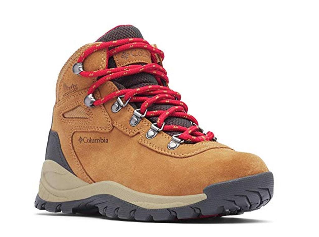backpacking, high traction, grip, Columbia Women's Newton Ridge Plus Waterproof Amped Boot