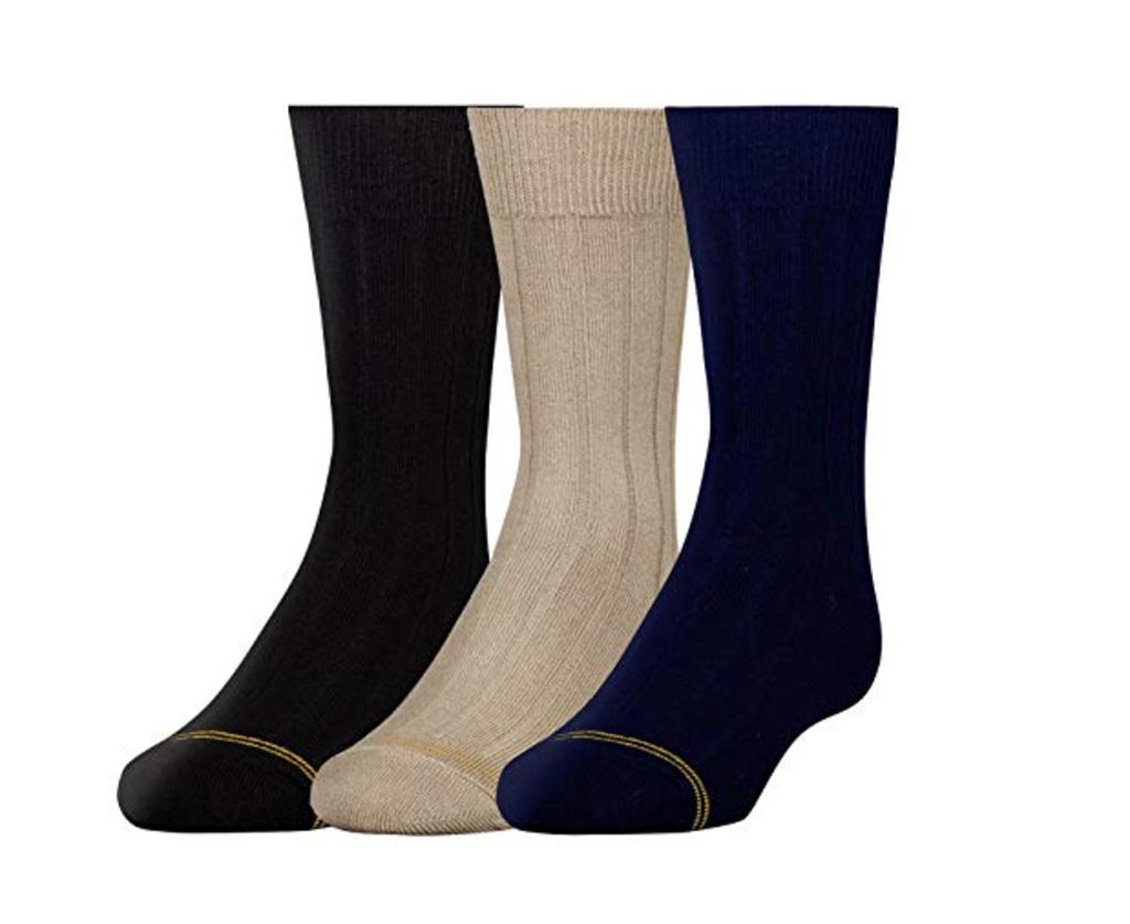 Gold Toe Boys' Wide Rib Dress Crew Socks, best dress and trouser socks amazon