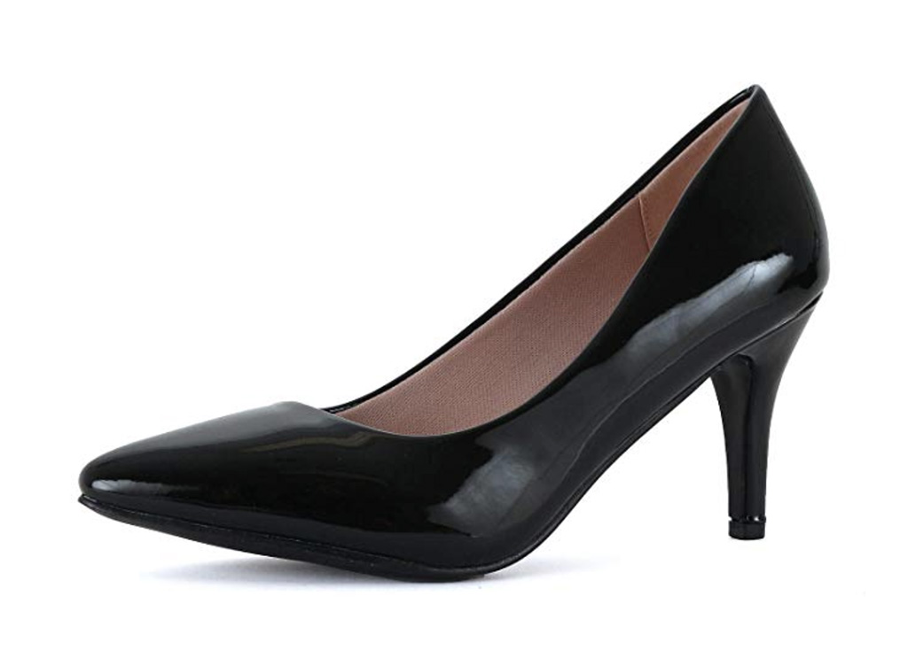 Guilty Shoes Womens Classic - Closed Pointy Toe Low Kitten Heel, best classic heels amazon, women's heels