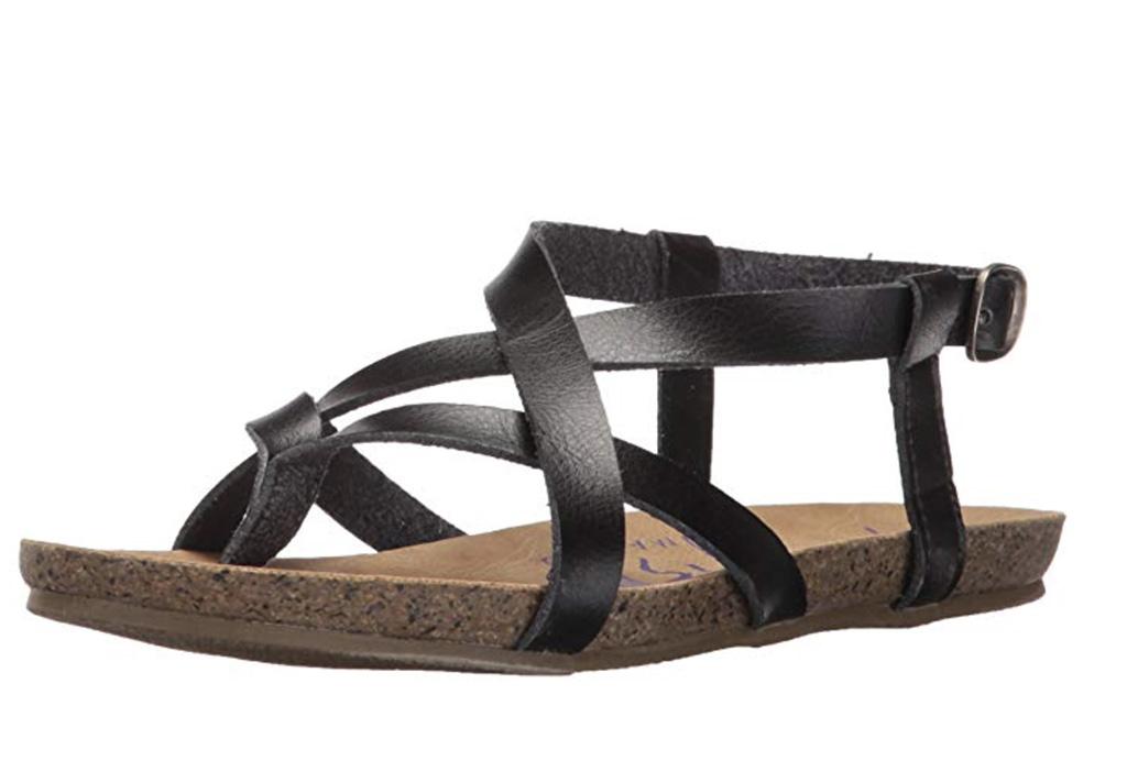 Blowfish Women's Granola Fisherman's Sandal, Best Women's Gladiator Sandal, Amazon, Black sandal