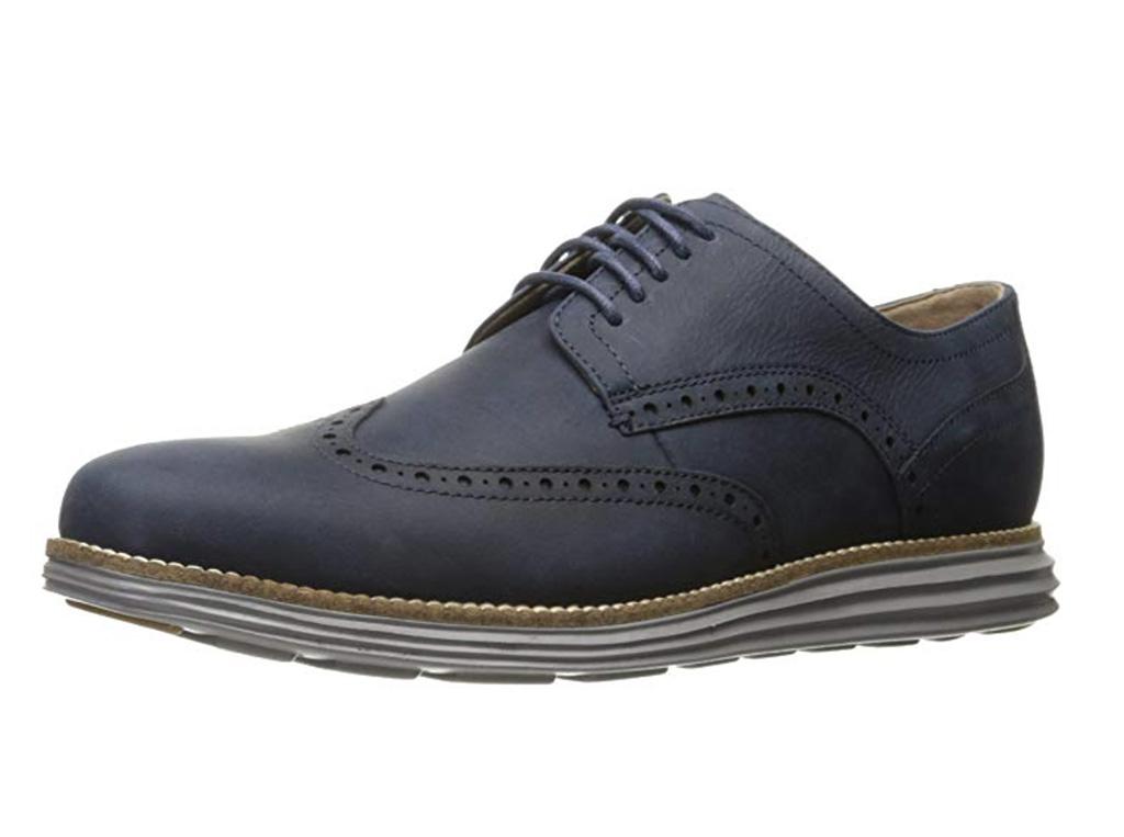 Cole Haan Men's Original Grand Shortwing Oxford Shoe, Amazon, Best Wingtip Oxford Shoes Men, Blue oxford shoes, gray shoes