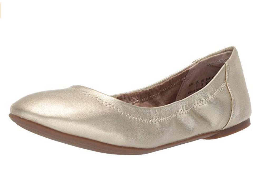 Amazon Essentials Women's Ballet Flat, gold, editors choice, amazon ballet flat, best ballet flat for women