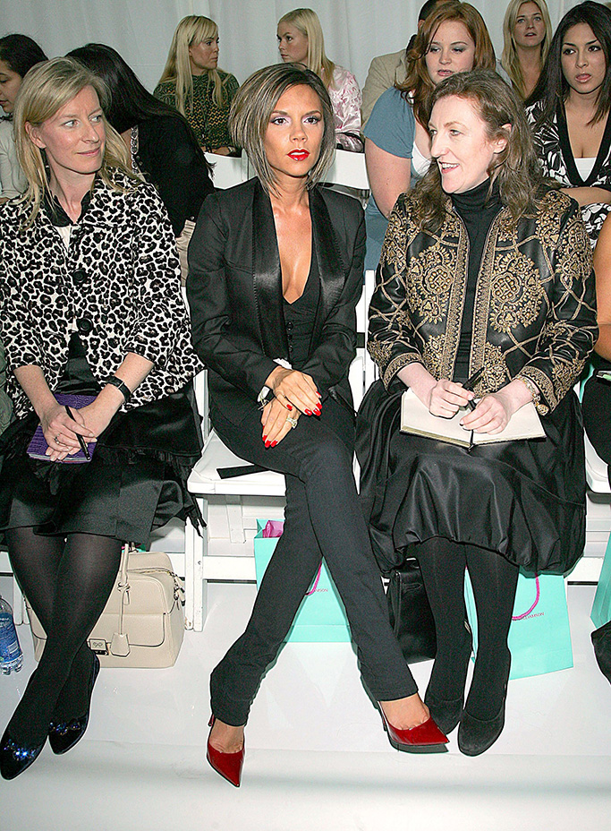 Victoria Beckham and Glenda BaileyMatthew Williamson show for Spring / Summer 2007, Olympus Fashion Week, New York, America - 13 Sep 2006, celebs front row at NYFW