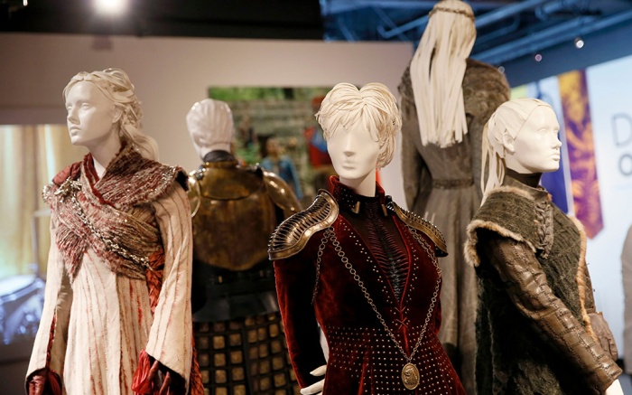 """Costumes from the Emmy nominated show """"Game of Thrones"""" appear on display at the premiere of the 13th Annual Art of Television Costume Design at FIDM Museum & Galleries, which celebrates this year's Emmy nominees for Outstanding Costume Design on in Los Angeles13th Annual """"Art of Television Costume Design"""", Los Angeles, USA - 17 Aug 2019"""