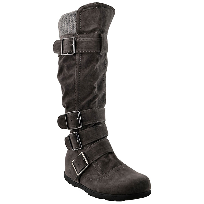 generation y knee high boots ruched