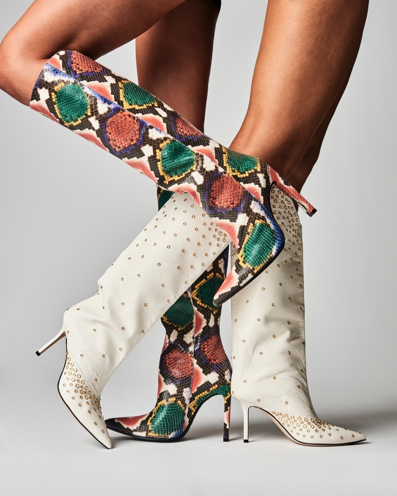 boots, fall, 2019, snake, print, area, jimmy, choo, knee, stilettos
