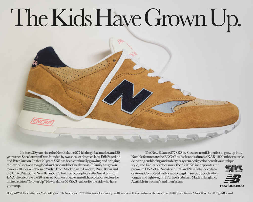 """Grown Up"" Sneakersnstuff x New Balance 577SKS"