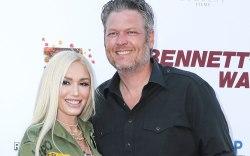 Gwen Stefani Wears Fishnets, DSquared2 Thigh-High