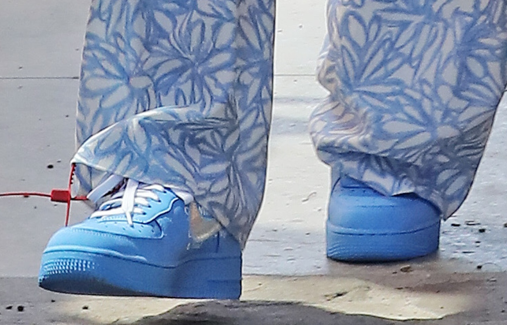 "hailey bieber,Off-White Nike Air Force 1 ""MCA"""