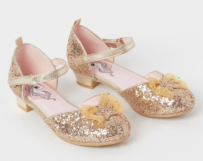 H&M glitter dress shoes, dress shoes with heels for little girls