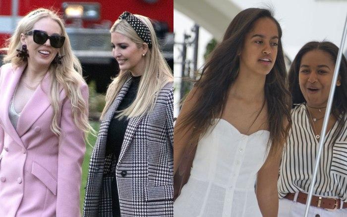 Tiffany, Ivanka, Malia, Sasha