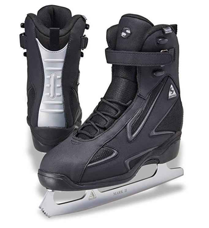 Roll over image to zoom in Jackson Ultima Softec Elite ST7002 Black Mens Ice Skates, amazon