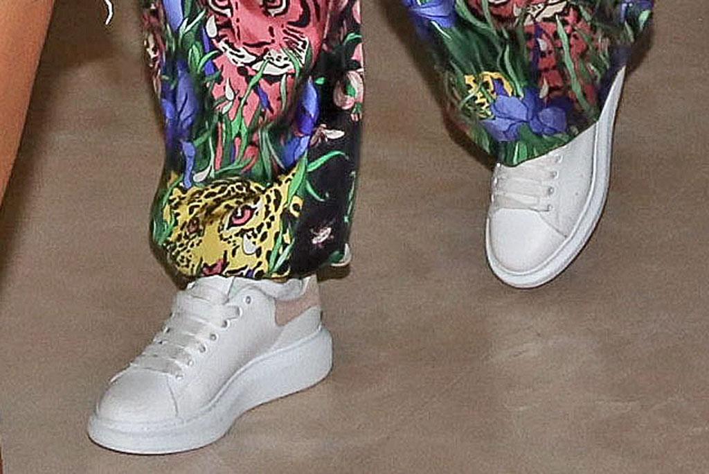 Jennifer Lopez, Alexander mc queen sneakers, celebrity style, Israel, July 2019