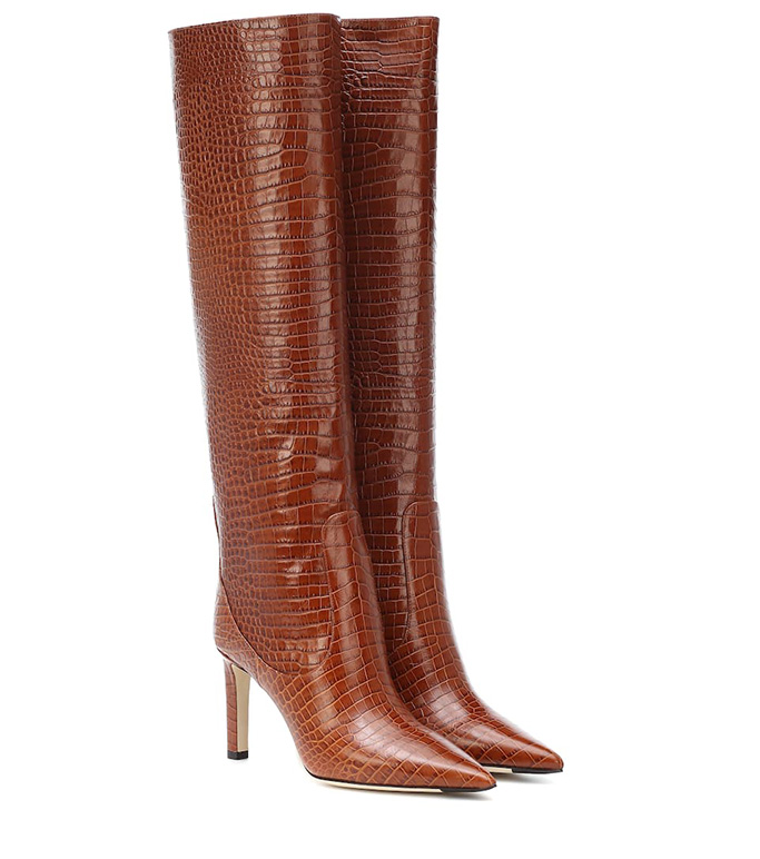 Jimmy Choo Mavis Croc-Embossed Leather Knee Boot