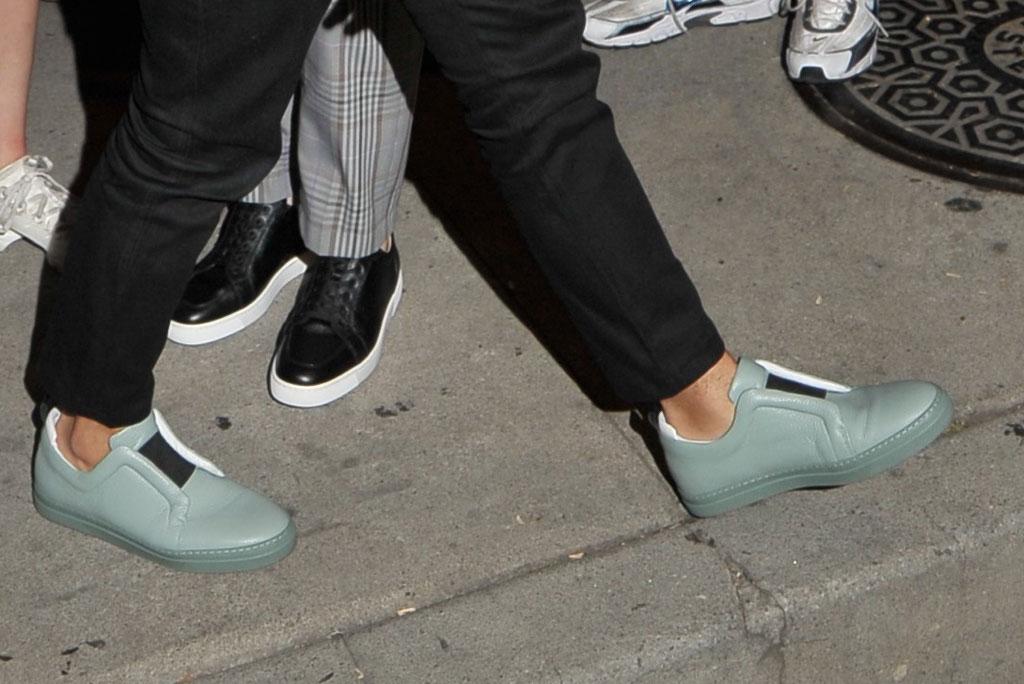 Joe Jonas, [pierre hardy sneakers, celebrity shoe style, Los Angeles, Craigs restaurant