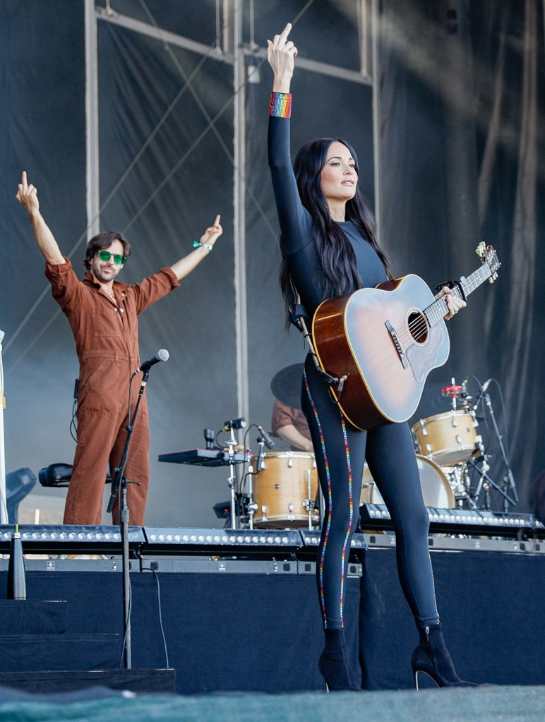Kacey Musgraves, Adam selman outfit, Sophia webster Rizzo boots, celebrity shoe style, Outside Lands Music and Arts Festival, Golden Gate Park, San Francisco, USA - 11 Aug 2019