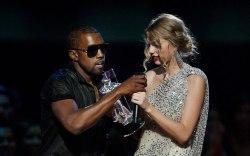 Kanye West, Taylor Swift. Singer Kanye