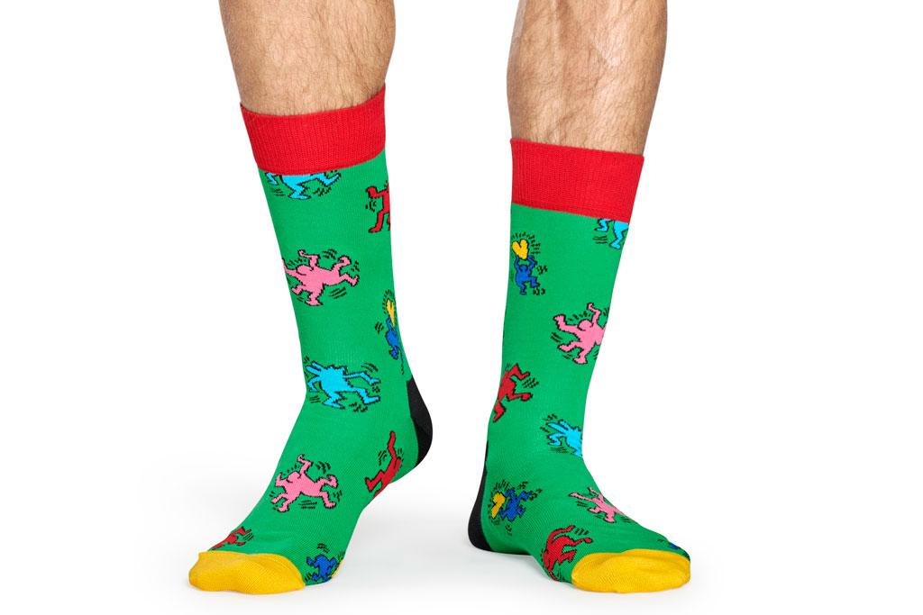 Happy Socks x Keith Haring, dancing, socks
