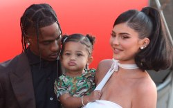 Travis Scott, Stormi Webster, Kylie Jenner'Travis