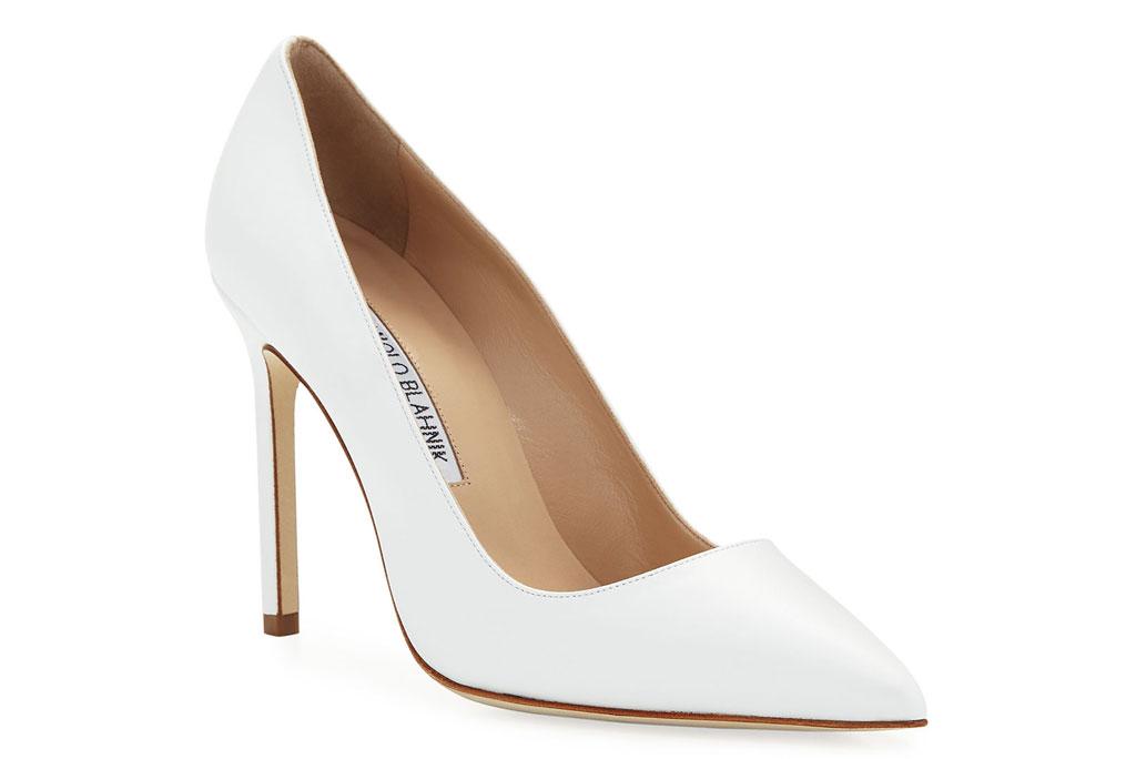 Manolo Blahnik BB pump, white leather