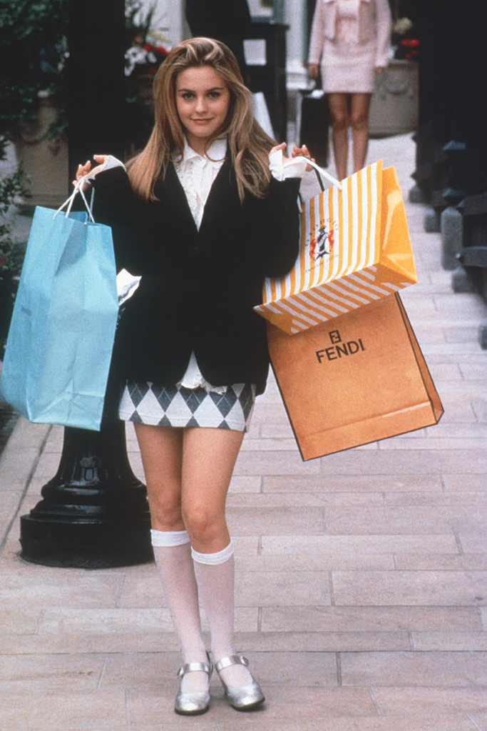 "Alicia Silverstone in ""Clueless,"" 1995, 90s shoe trends, mary janes"