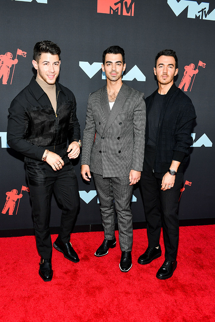 fendi, Jonas Brothers - Nick Jonas, Joe Jonas and Kevin JonasMTV Video Music Awards, Arrivals, Prudential Center, New Jersey, USA - 26 Aug 2019
